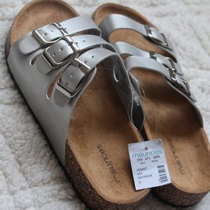 Maurices Silver Birkenstock Style Sandal